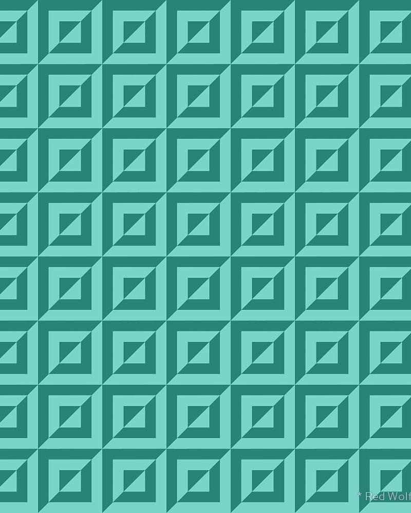 Geometric Pattern: Square Split / Red Wolf