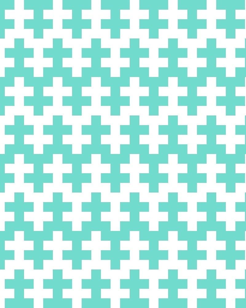 Geometric Pattern: Cross / Red Wolf