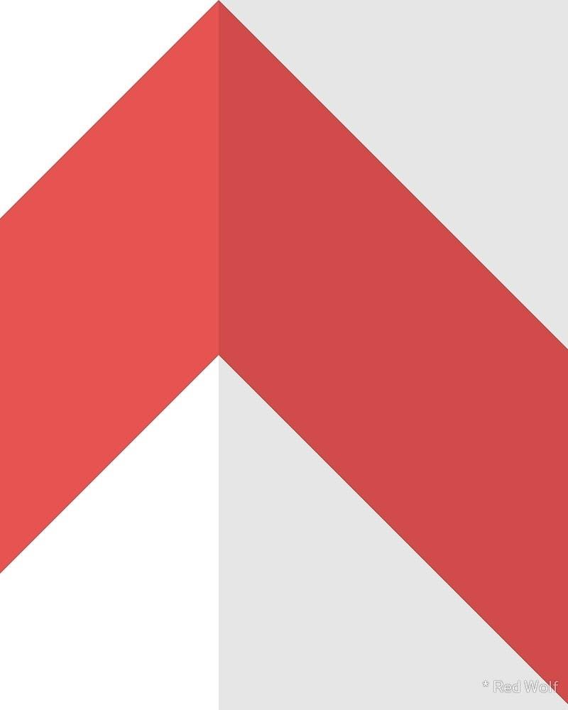 Geometric Pattern: Chevron: Light / Red Wolf