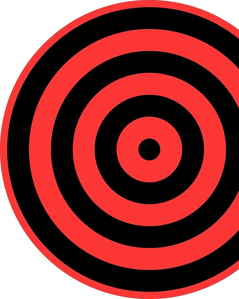 Geometric Pattern: Rondel: Black Colour / Red Wolf