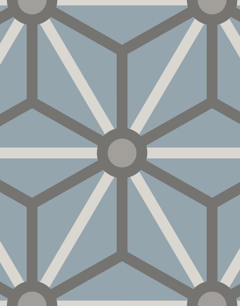 Geometric Pattern: Art Deco Star: Moderna / Red Wolf