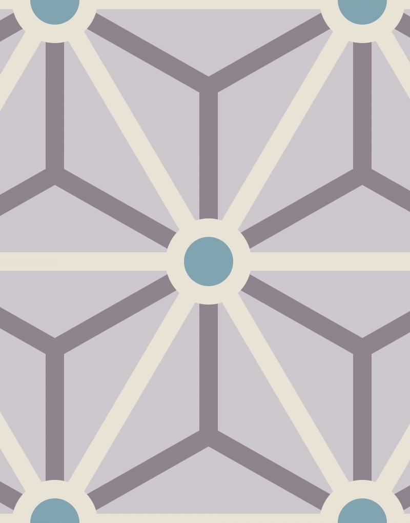 Geometric Pattern: Art Deco Star: Stoneware / Red Wolf