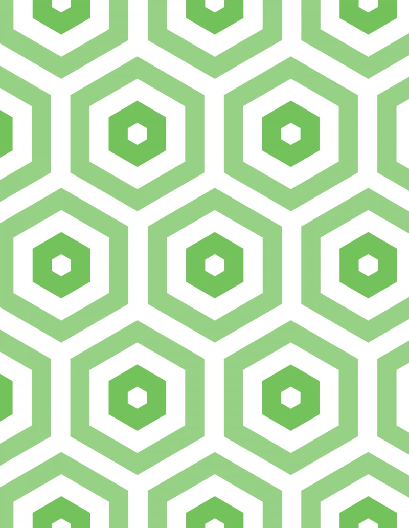 Geometric Pattern: Hexagon Hive: Light Negative / Red Wolf