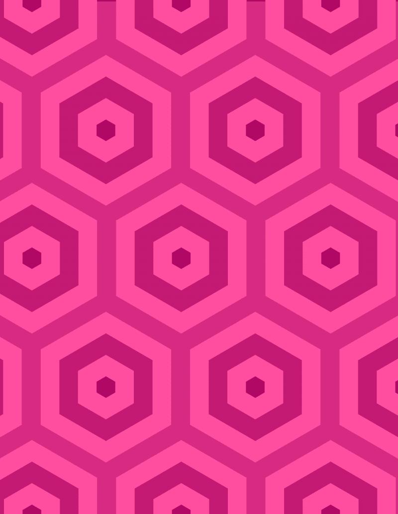 Geometric Pattern: Hexagon Hive: Brunch / Red Wolf