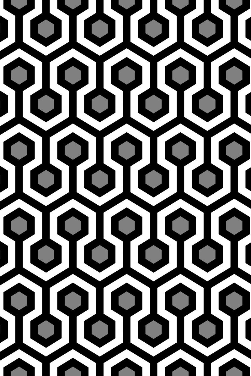 Geometric Pattern: Looped Hexagons: Kerry + Virginie