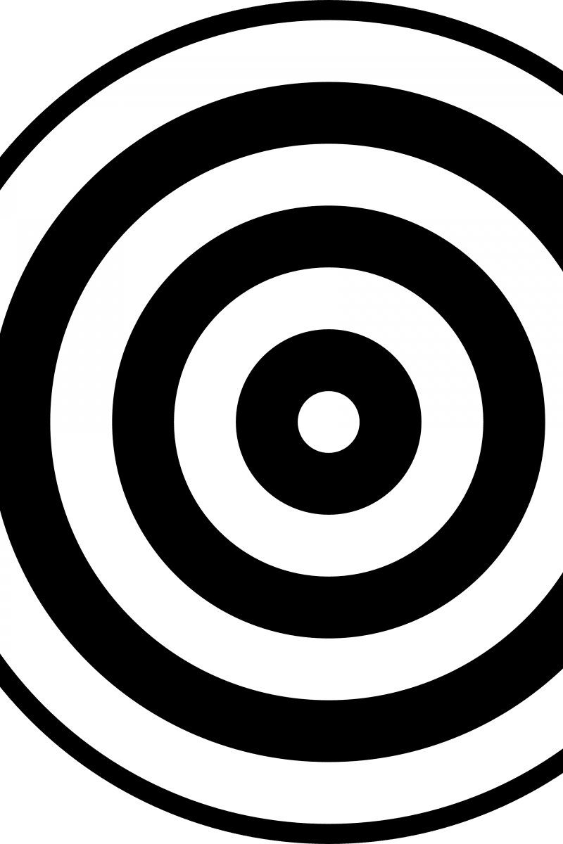 Geometric Pattern: Rondel: White Grey / Red Wolf