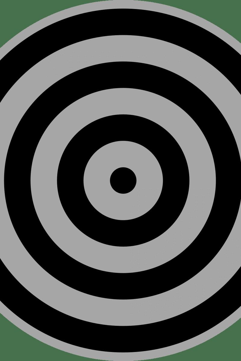 Geometric Pattern: Rondel: Black Grey / Red Wolf