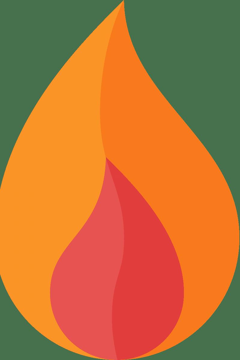 Geometric Pattern: Flame: Light / Red Wolf