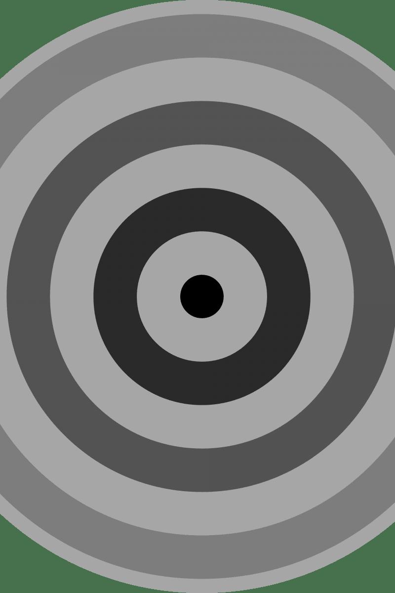 Geometric Pattern: Rondel: Monochrome Gradient / Red Wolf