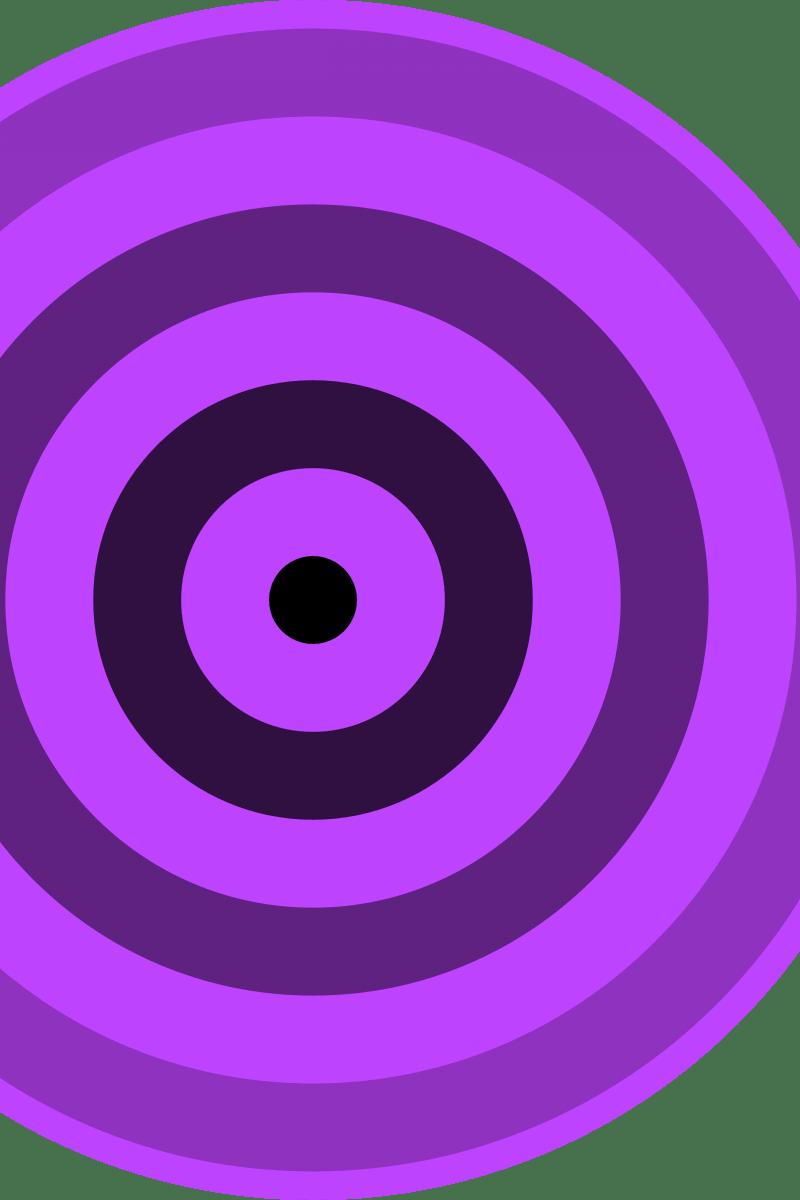 Geometric Pattern: Rondel: Black Gradient Colour / Red Wolf
