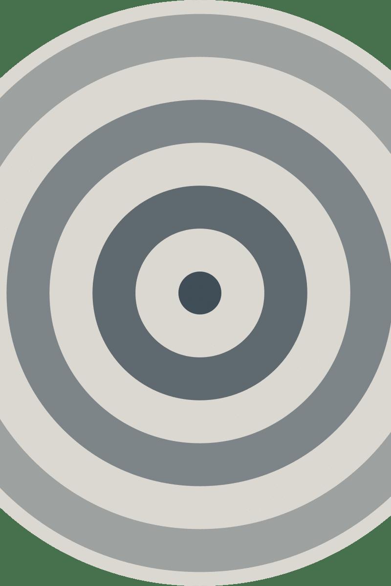 Geometric Pattern: Rondel: Stone / Red Wolf