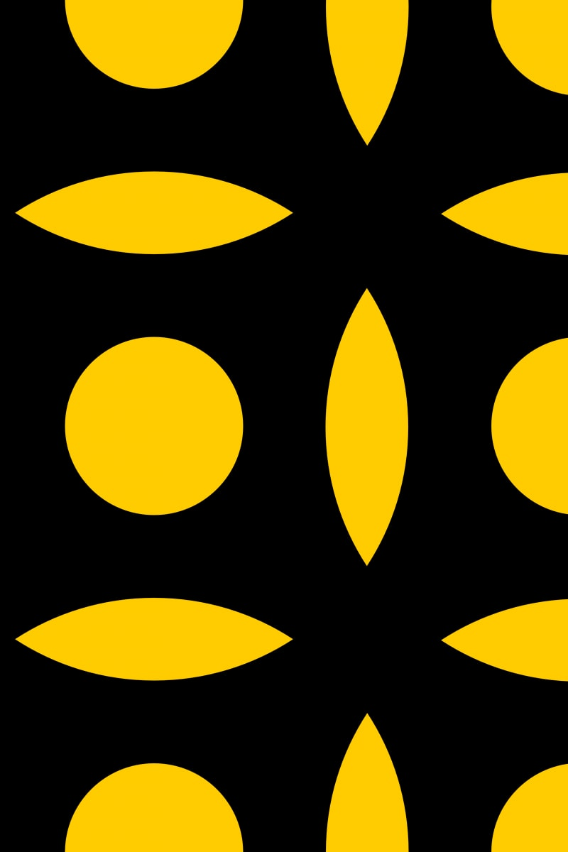 Geometric Pattern: Intersect Circle: Black Colour / Red Wolf