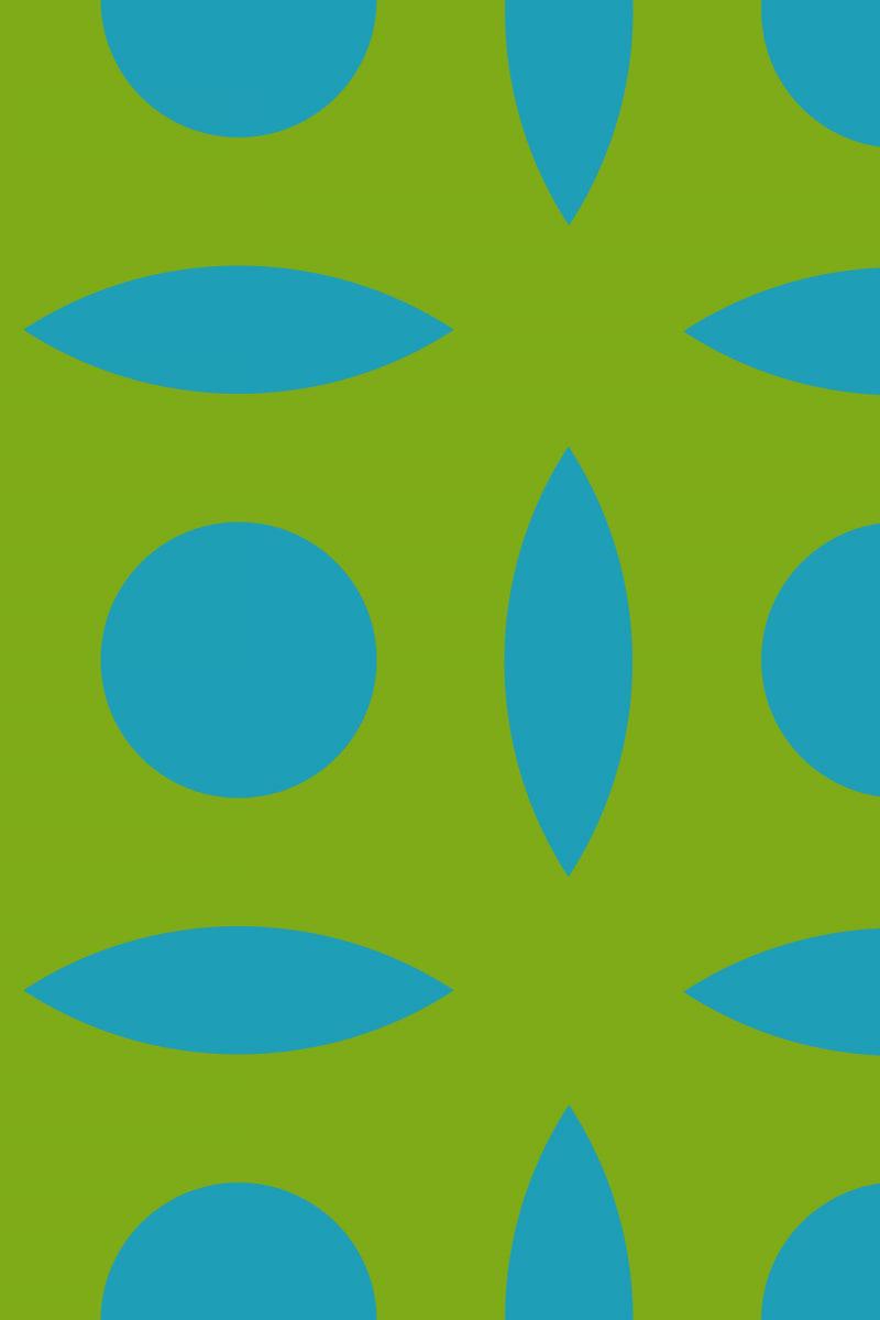 Geometric Pattern: Intersect Circle: Moderna / Red Wolf