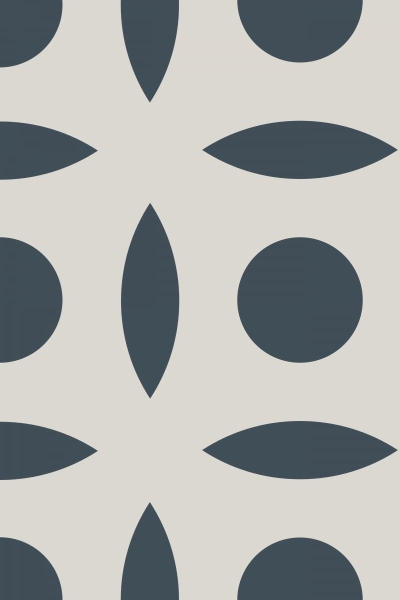 Geometric Pattern: Intersect Circle: Stone / Red Wolf
