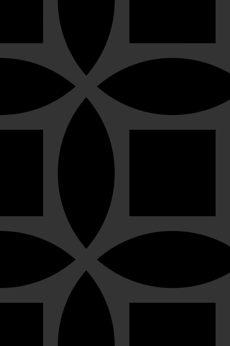 Geometric Pattern: Intersect Square: Moderna / Red Wolf