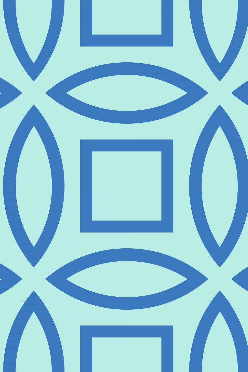 Geometric Pattern: Intersect Outline: Moderna / Red Wolf