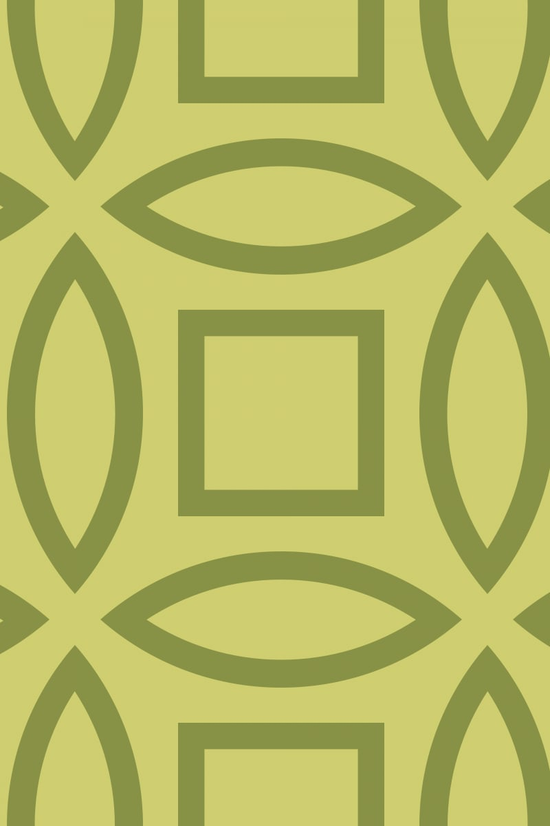 Geometric Pattern: Intersect Outline: Brunch / Red Wolf