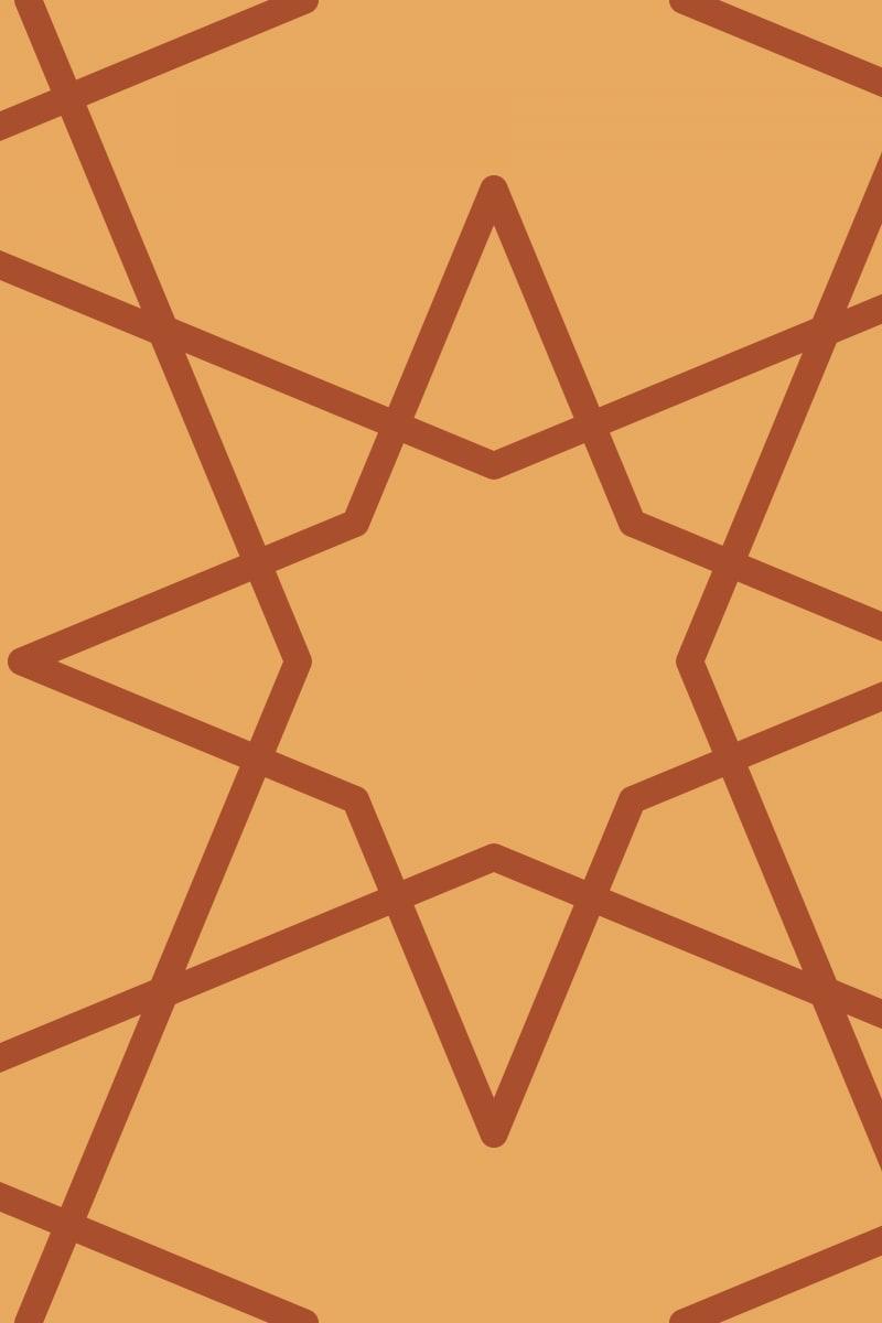 Geometric Pattern: Octagram: Duo / Red Wolf