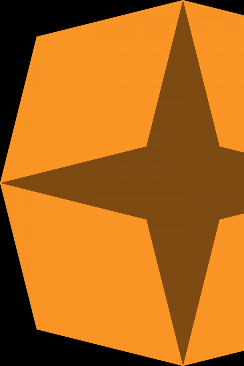 Geometric Pattern: Diamond Star: Dark / Red Wolf