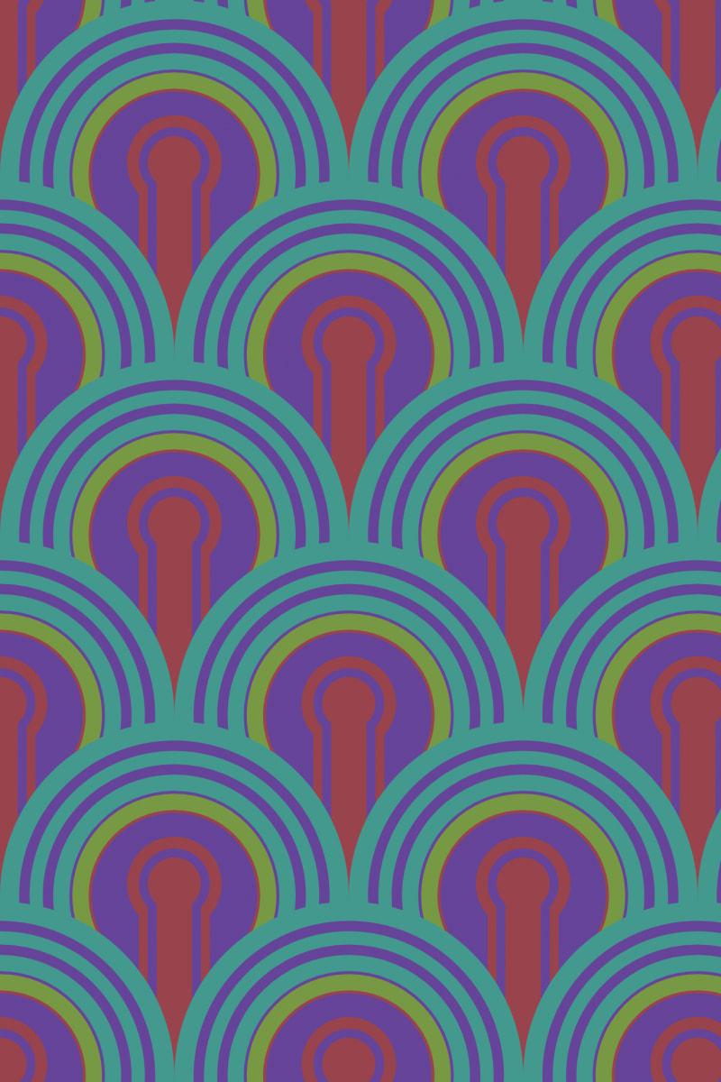 Geometric Pattern: Keyhole Arch: Deedree Daniel / Red Wolf