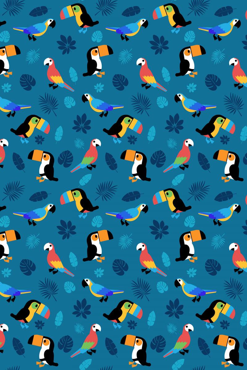 Tropical Bird: Gemstone / Red Wolf
