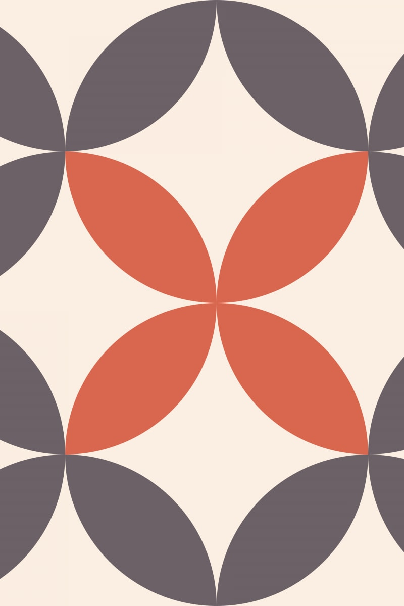 Geometric Pattern: Circle Nested: Bloom / Red Wolf