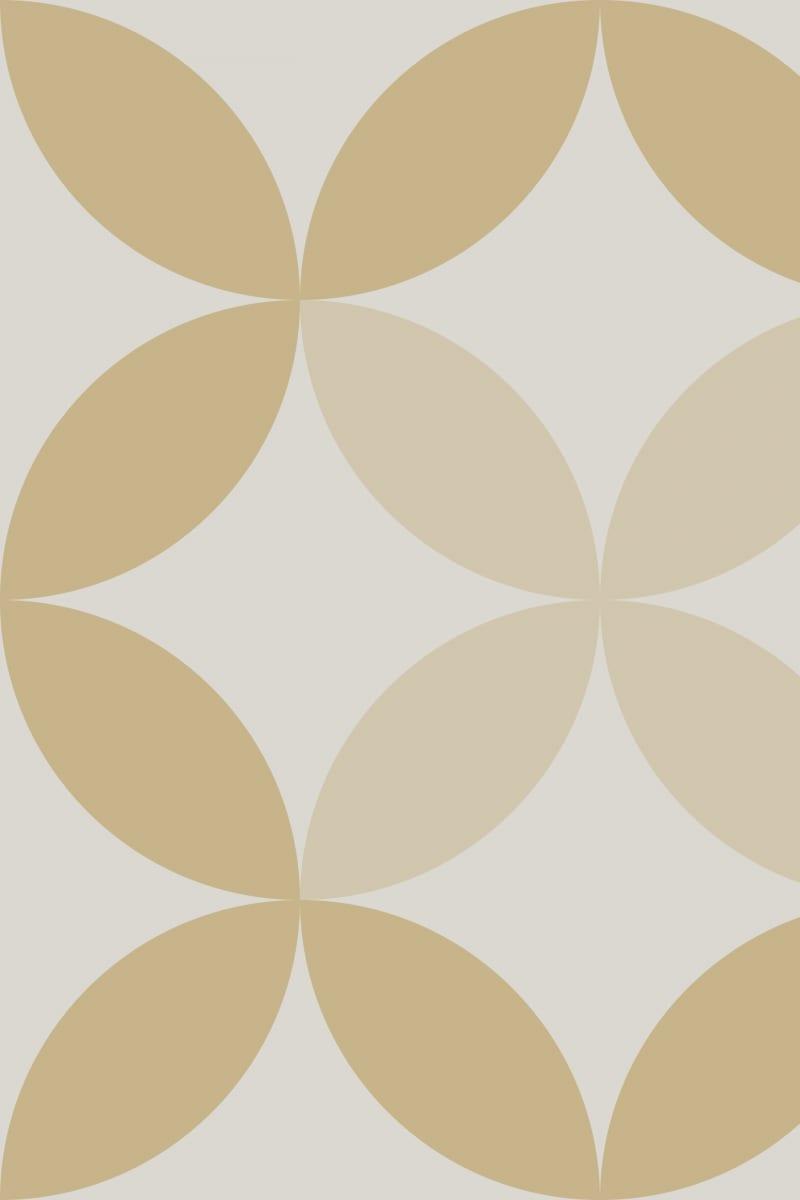 Geometric Pattern: Circle Nested: Stone / Red Wolf