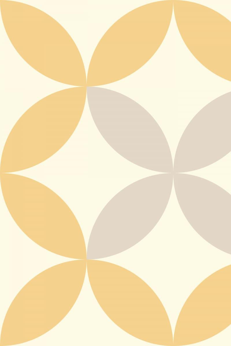 Geometric Pattern: Circle Nested: Moderna / Red Wolf