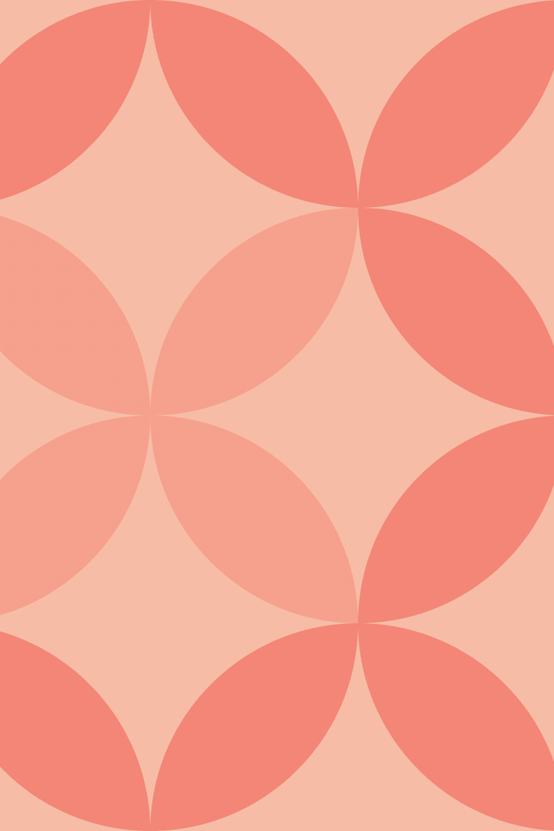 Geometric Pattern: Circle Nested: Brunch / Red Wolf