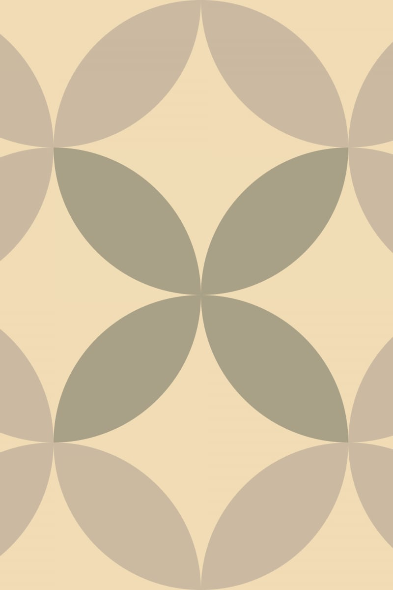 Geometric Pattern: Circle Nested: Antique / Red Wolf