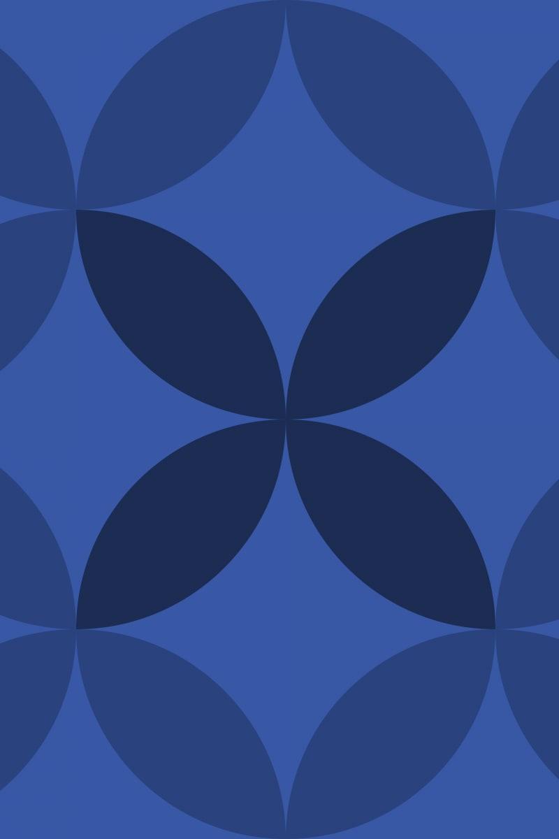 Geometric Pattern: Circle Nested: Gemstone / Red Wolf