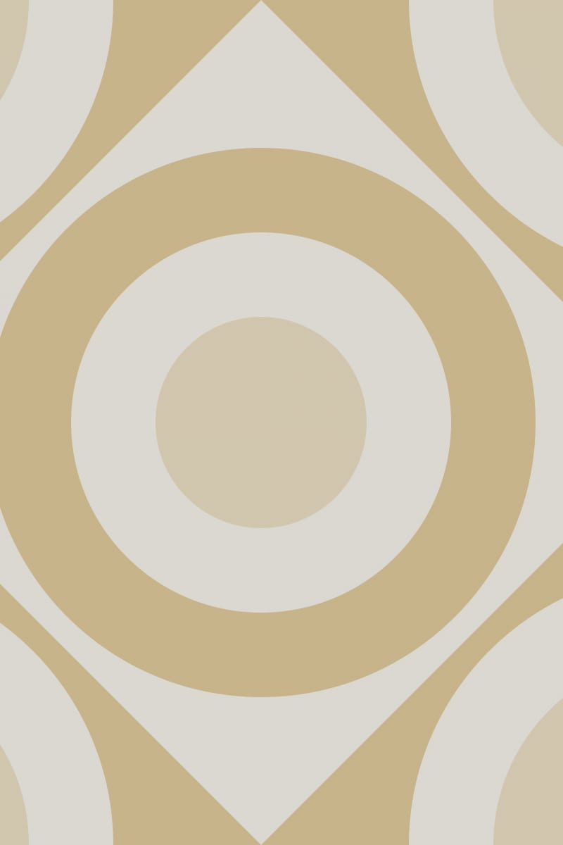 Geometric Pattern: Rondel Diamond: Stone / Red Wolf