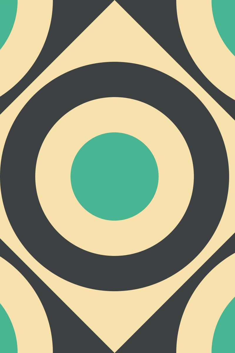 Geometric Pattern: Rondel Diamond: Bloom / Red Wolf
