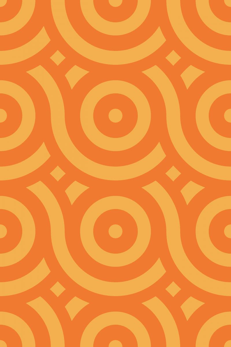Geometric Pattern: Loop: Brunch / Red Wolf