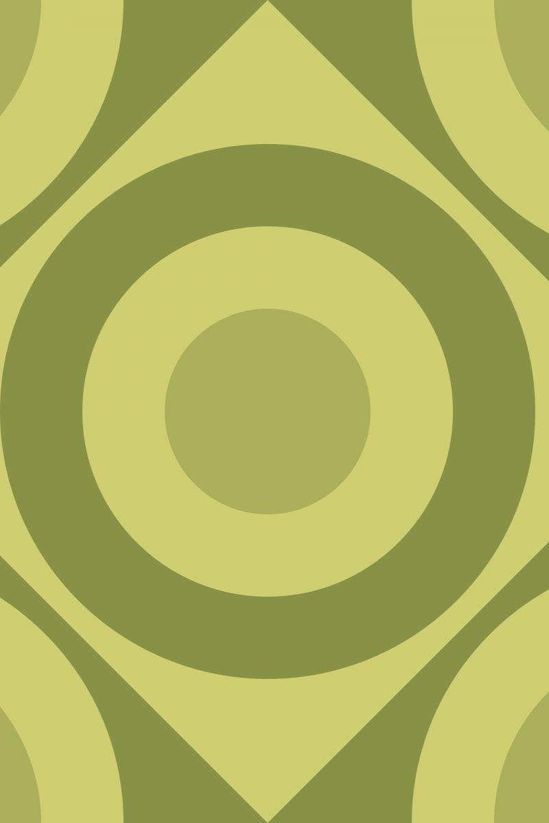 Geometric Pattern: Rondel Diamond: Brunch / Red Wolf