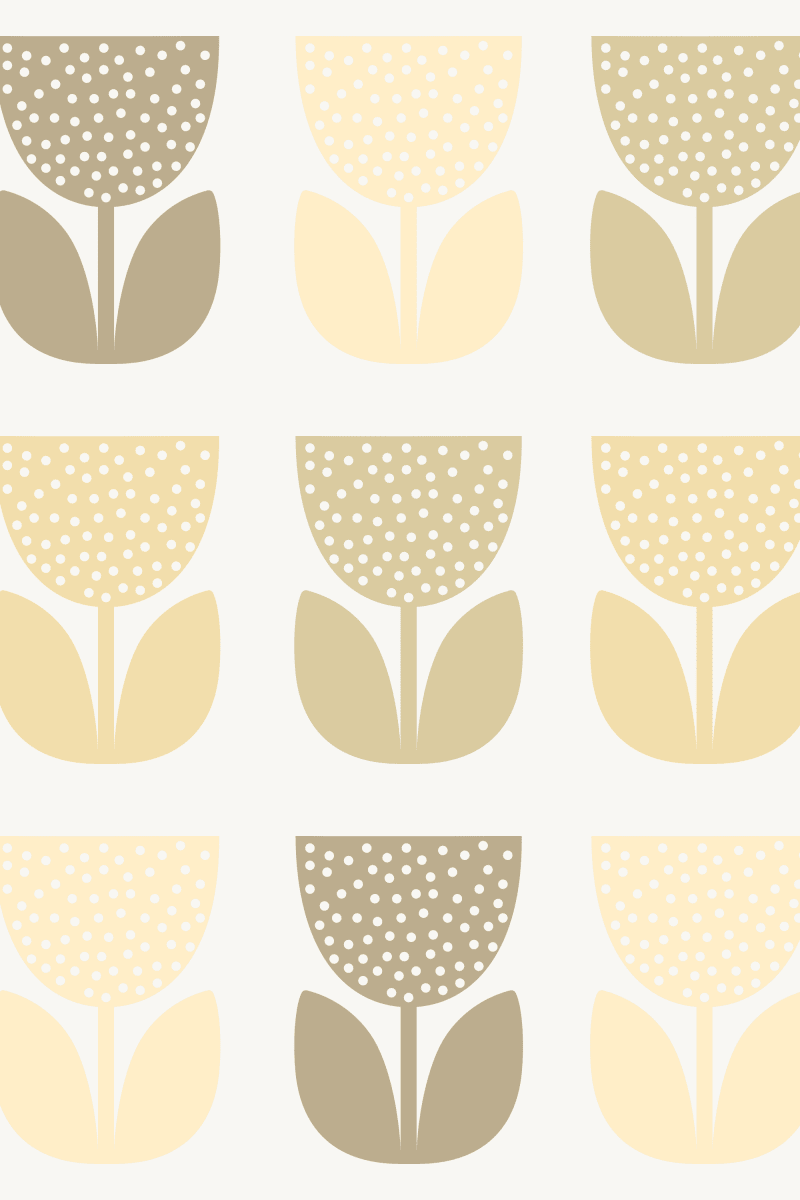 Geometric Pattern: Poppy: Light / Red Wolf