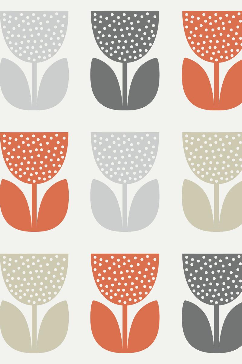 Geometric Pattern: Poppy: Brookelyn Zammit / Red Wolf