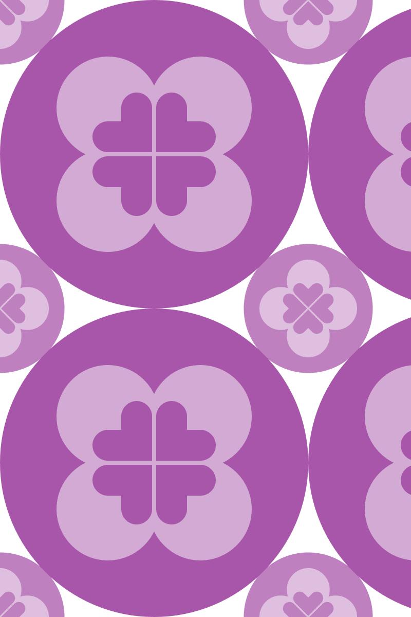 Geometric Pattern: Flower Circle: Light / Red Wolf