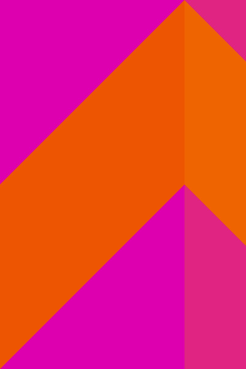 Geometric Pattern: Chevron: Bright / Red Wolf