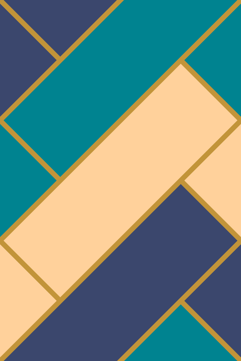 Geometric Pattern: Herringbone: Flowers / Red Wolf