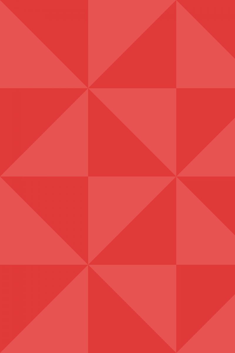Geometric Pattern: Square Triangle: Dark Colour / Red Wolf
