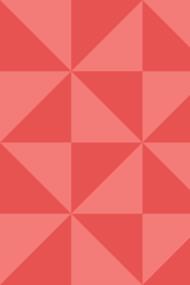 Geometric Pattern: Square Triangle: Light Colour / Red Wolf