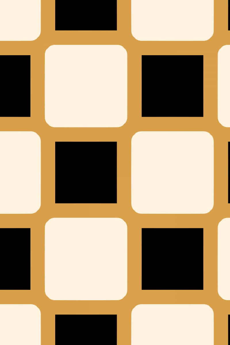 Geometric Pattern: Rounded Weave: Deco / Red Wolf