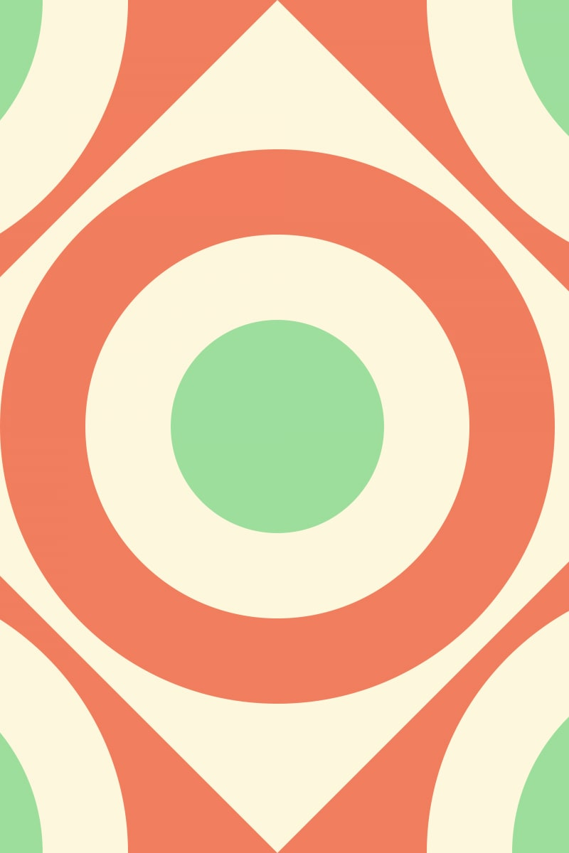 Geometric Pattern: Rondel Diamond: Moderna / Red Wolf
