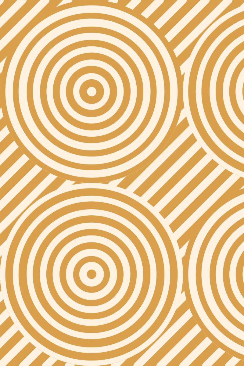 Geometric Pattern: Circle Strobe: Deco / Red Wolf