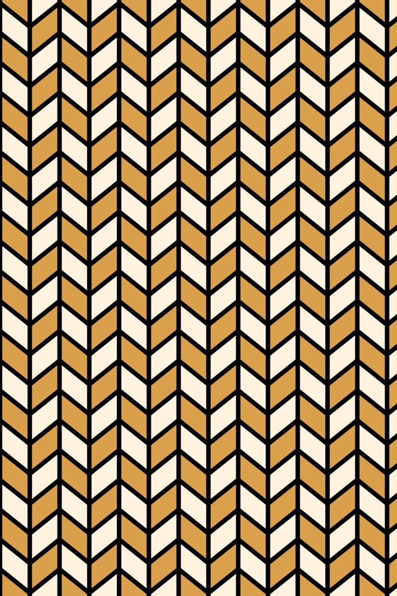 Geometric Pattern: Chevron Lines: Deco / Red Wolf