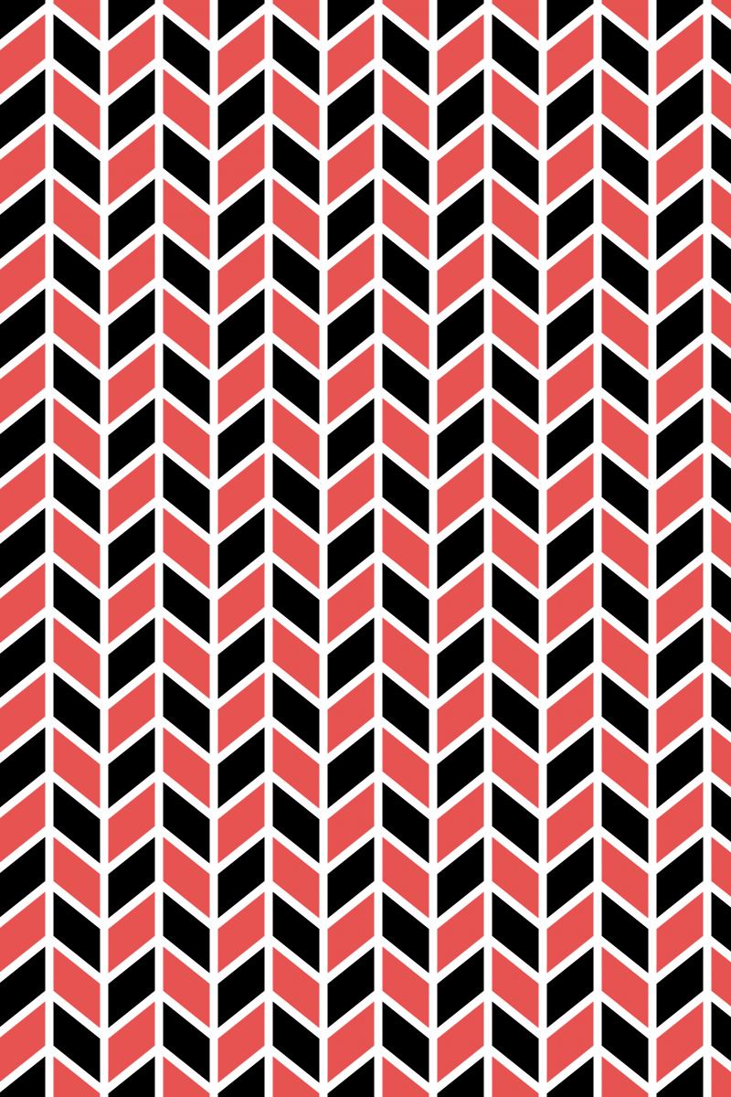 Geometric Pattern: Chevron Lines: White / Red Wolf