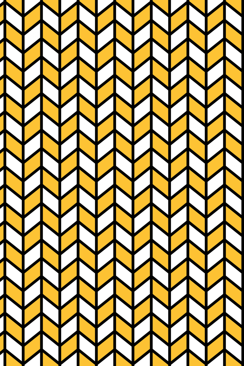 Geometric Pattern: Chevron Lines: Black / Red Wolf