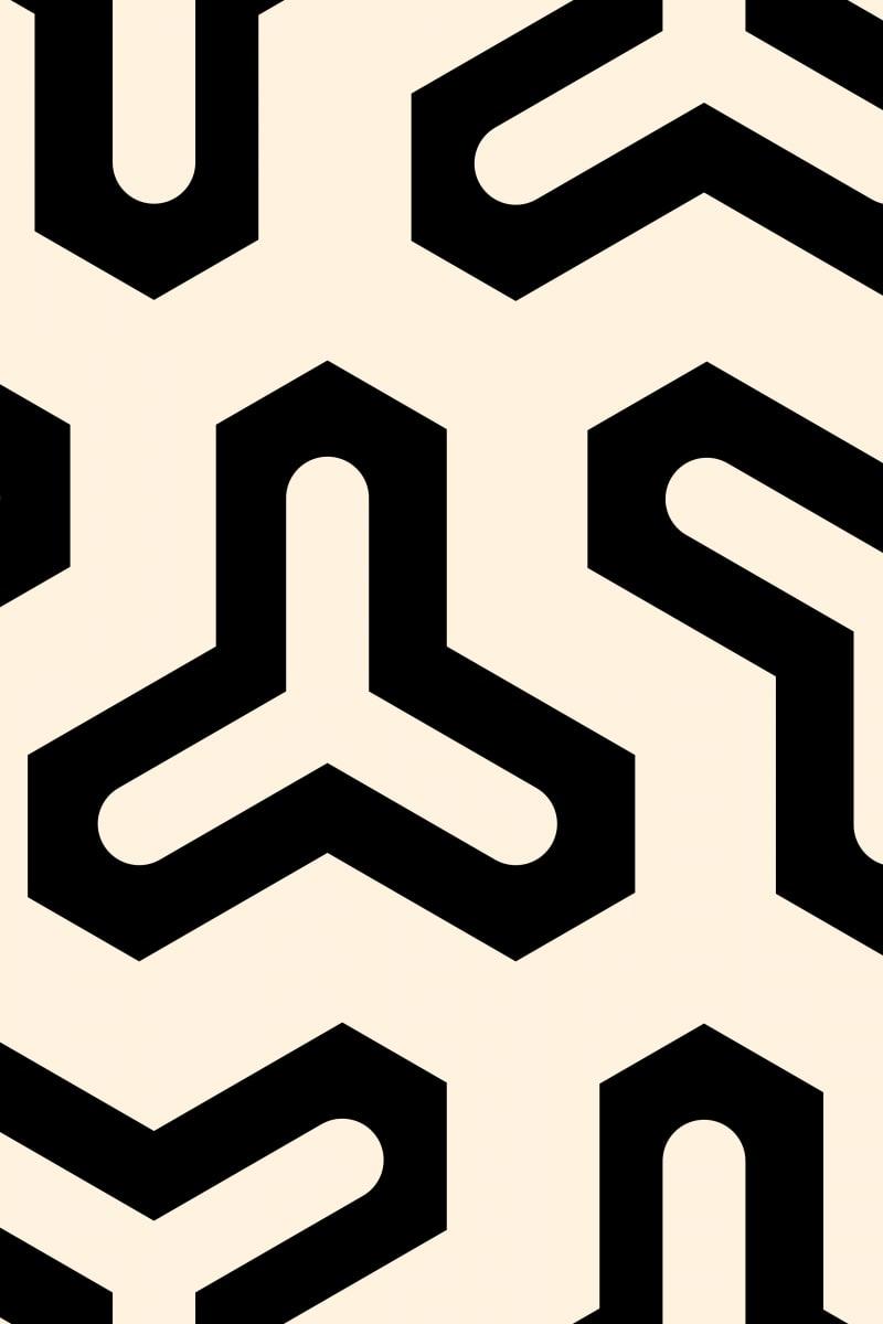 Geometric Pattern: Y / Red Wolf