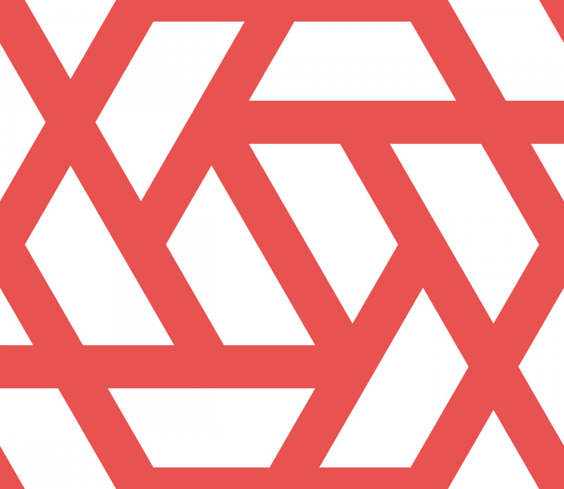 Geometric Pattern: Aperture: White Background / Red Wolf